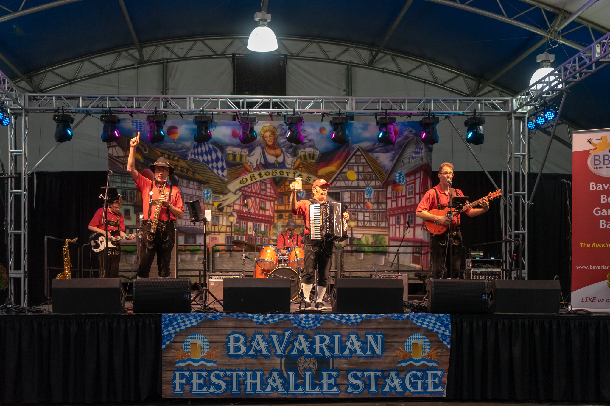 Bavarian Festhalle Stage at Oktoberfest NW